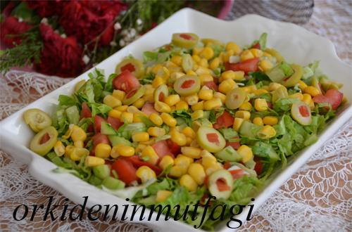 mısırlı zeytinli salata
