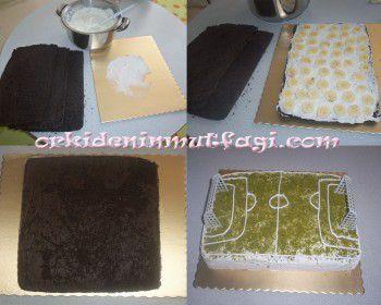 Futbol Sahası Pasta