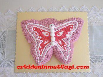 Kelebek şeklinde pasta