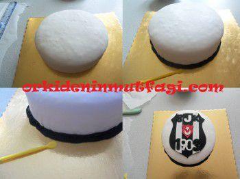 Besiktaş temalı pasta