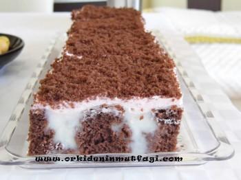 kakaolu içi pudingli kek