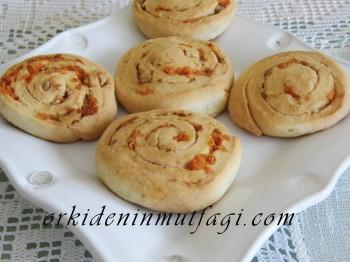 Havuçlu rulo kurabiye