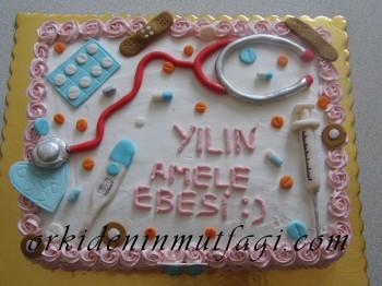 Hemşire temalı pasta