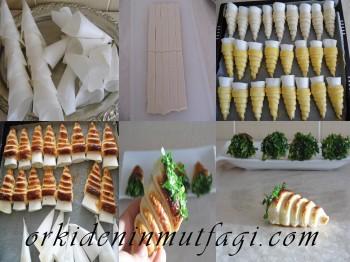 Peynirli milföy külah