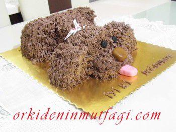 köpek şeklinde pasta