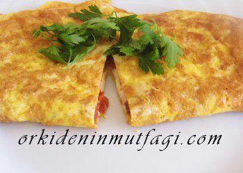 içi sebzeli omlet