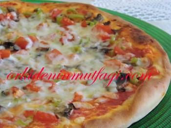 mantarlı orjinal pizza