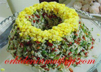 renkli pirinç salatası