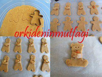 kuruyemiş taşıyan çocuk kurabiyesi