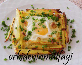 patates çanağında yumurta