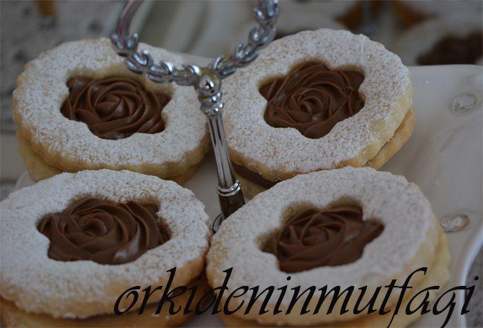 nutellalı kurabiye