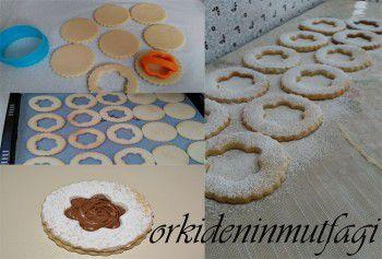 arası nutellalı kurabiye