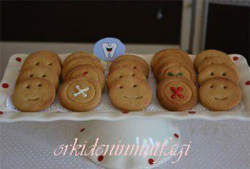 düğme şeklinde kurabiye